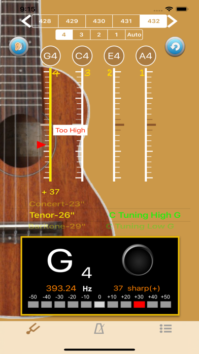 UkuleleTuner - Tuner for Uke screenshot two