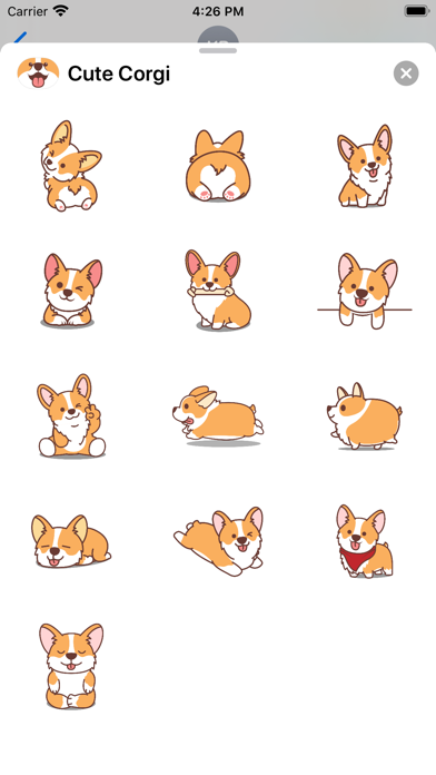 Screenshot of Cute Welsh Corgi App