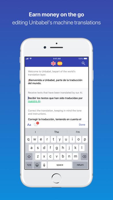 Unbabel for translators screenshot one