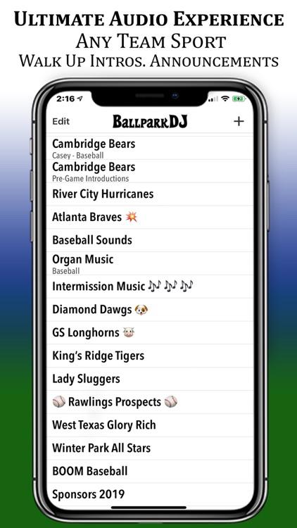 BallparkDJ Walkout Intros