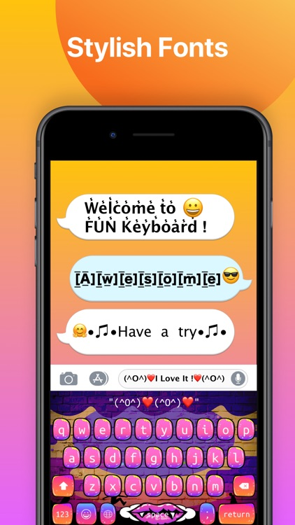FUN Keyboard -Emoji & Themes screenshot-3