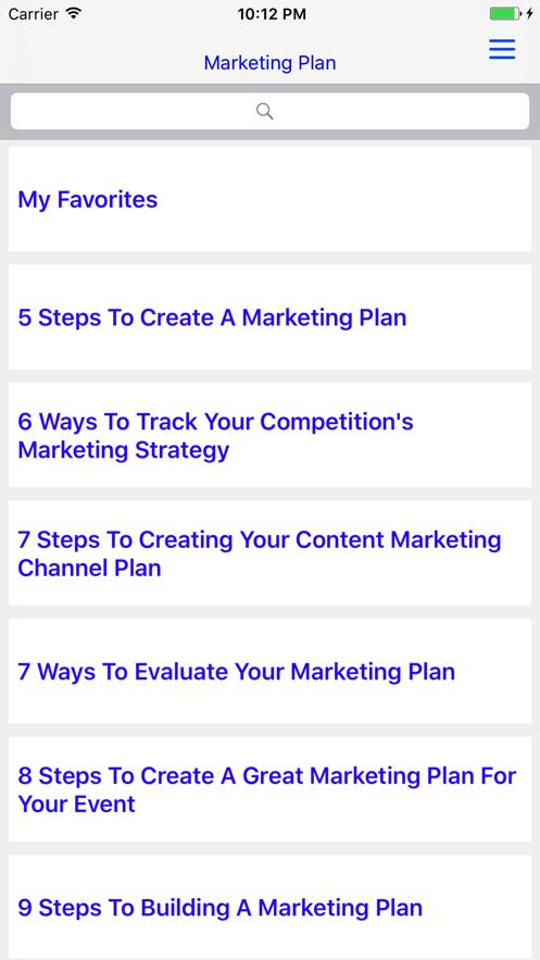 Brilliant Marketing Plan - App 截图