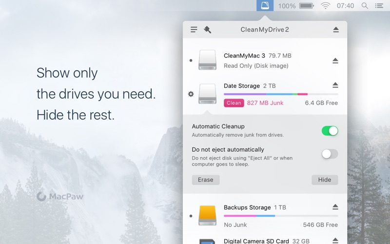 CleanMyDrive Screenshot