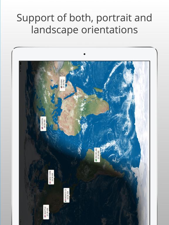 TimeMap - Visual World Clock Screenshots