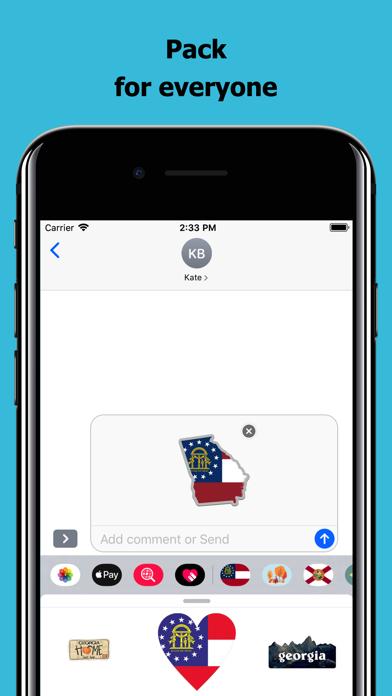 Georgia emojis - USA stickers screenshot 4