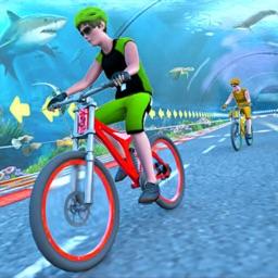 Underwater Fast Bicycle Stunt