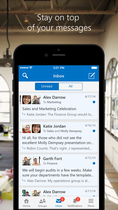 Screenshot for Yammer in Austria App Store