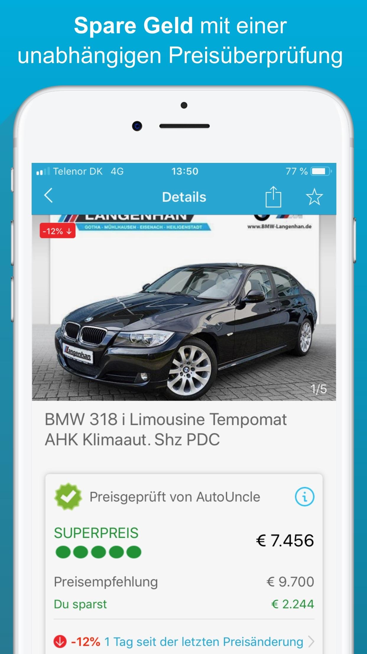 Autouncle Gebrauchtwagen suche Screenshot
