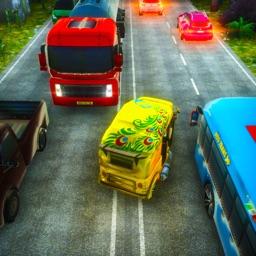 Rickshaw Road Traffic Run 3D