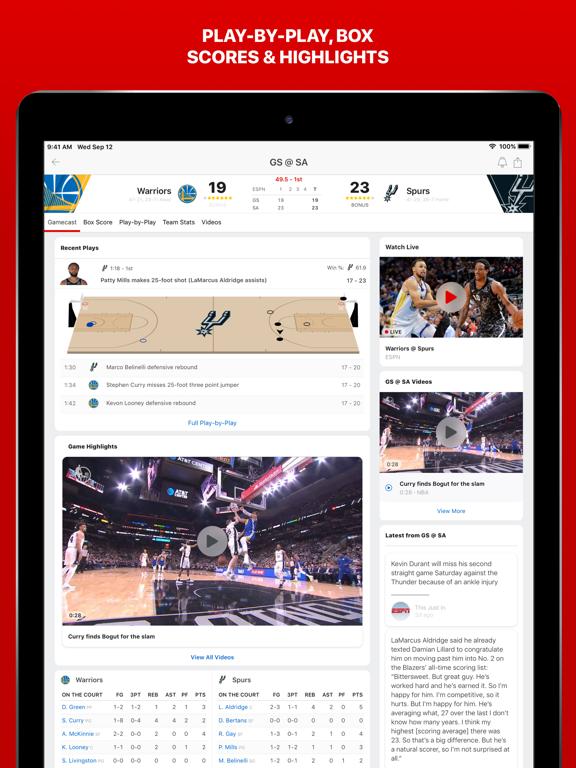 iPad Image of ESPN: Live Sports & Scores
