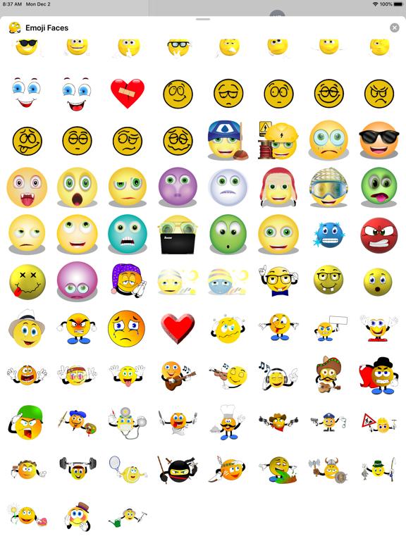 Emoji Faces Sticker Pack screenshot 12