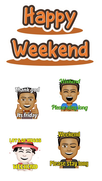 Happy Weekend Stickers
