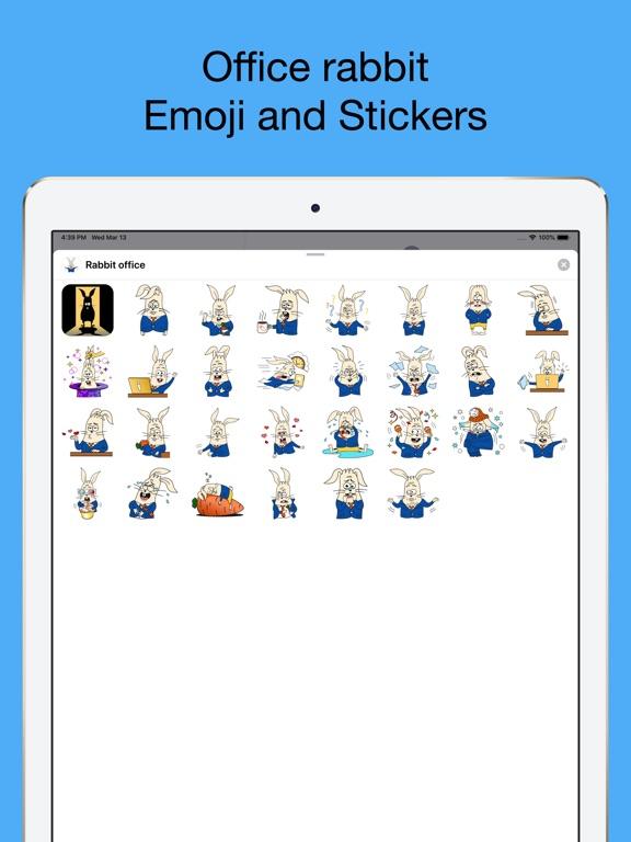 Office Rabbit emoji stickers screenshot 6