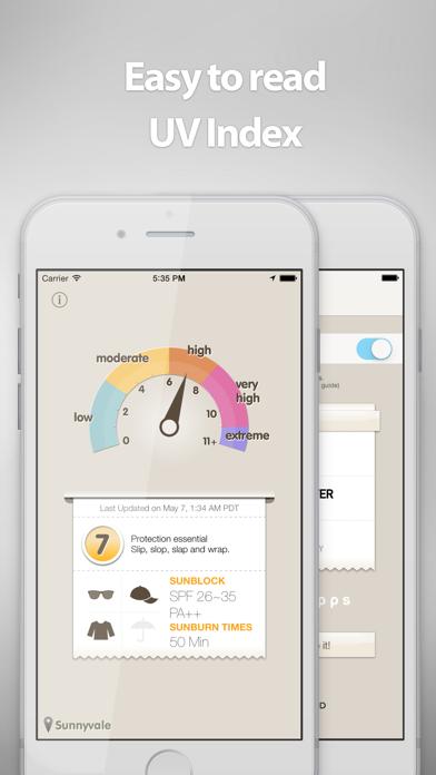 Screenshot #1 pour UVmeter - Check UV Index