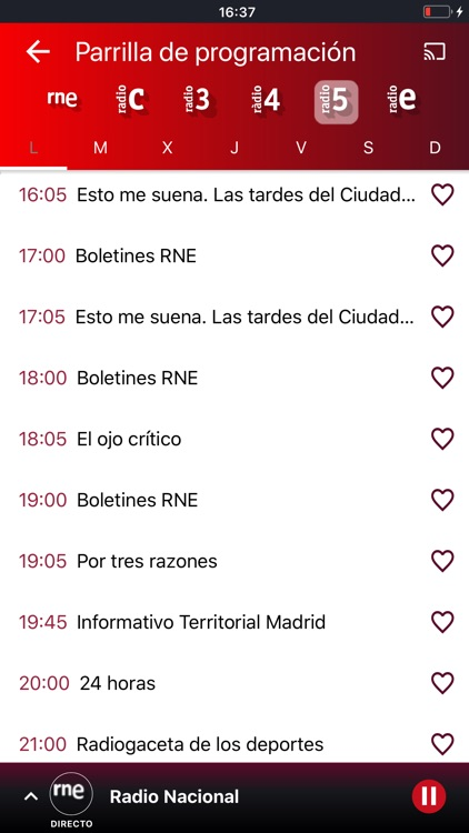 Radio Nacional de España screenshot-6