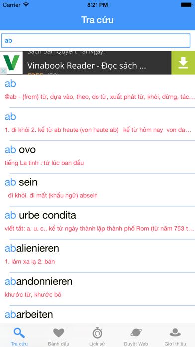 GVEDict - Từ Điển Đức Việt screenshot one