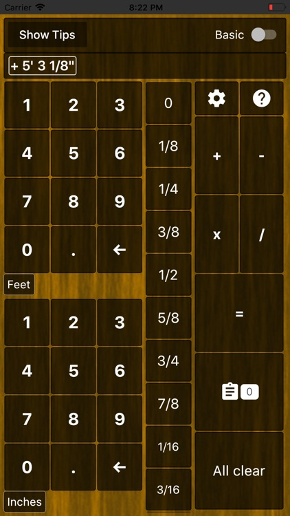 Feet Inches Construction Calc