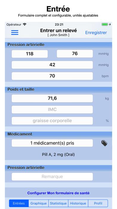 Screenshot #1 pour Pression Artérielle Suivi Pro