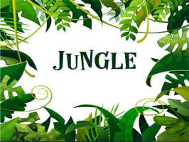 The JungleTL is a small sticker, which are show the 50 Jungle sticker in cartoon