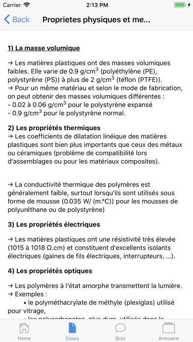 Chimie 1ère ES screenshot 2