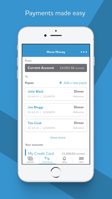 Yorkshire Bank Mobile Banking screenshot four
