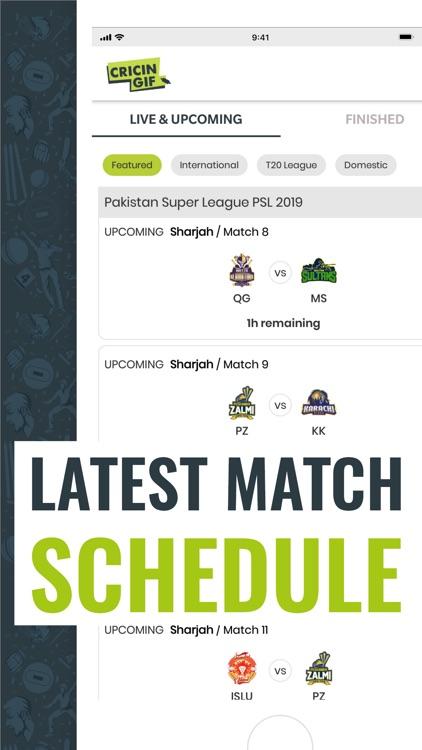 Cricingif-Live Cricket Scores screenshot-3