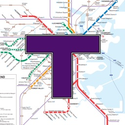 MBTA Boston T Transit Map