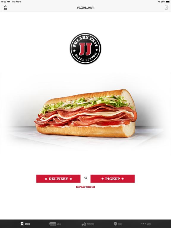iPad Image of Jimmy John's Sandwiches