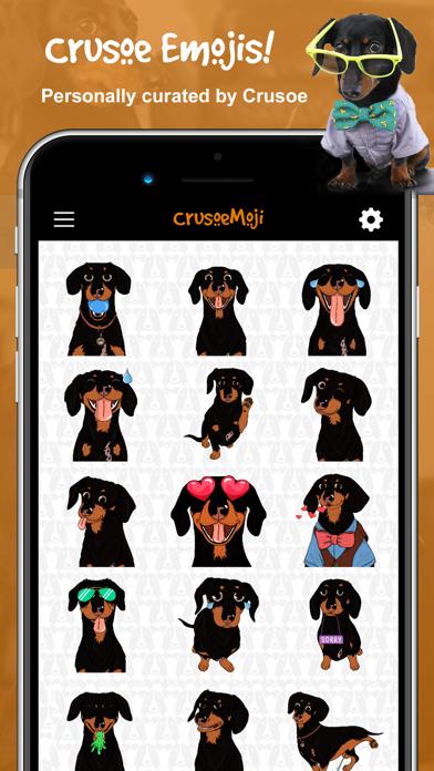 CrusoeMoji - Dachshund stickerのおすすめ画像2
