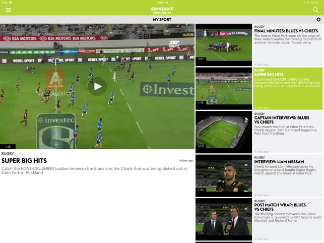 SKY Sport Highlights on the App Store
