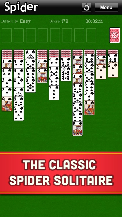 Spider Solitaire Classic Cards screenshot-0