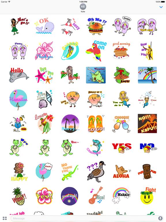 Hawaiian Life Icon Sticker screenshot 9