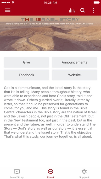 The Israel Story