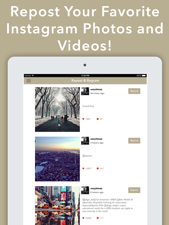 Repost & Regram for Instagram - Photo and Video Reposter Instarepost Whiz App - Shoutout, Download, Instagrab, and Search Your Photos and Videos on Downloader! screenshot