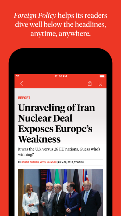 Foreign Policy for Mobile Screenshot