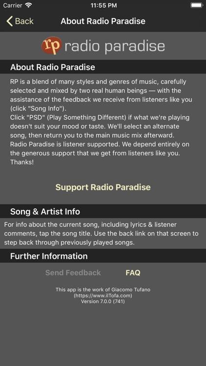 Radio Paradise screenshot-5