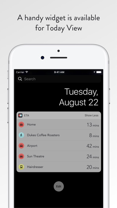 Screenshot for ETA - Arrive on time in United States App Store