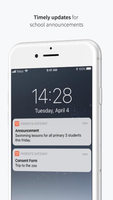 Screenshot for Parents Gateway in Singapore App Store