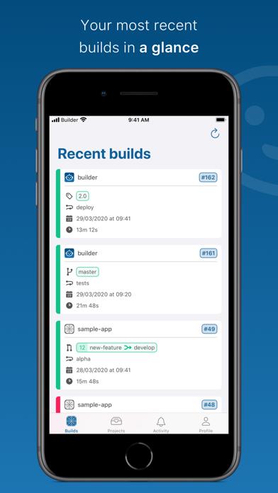 Builder review screenshots