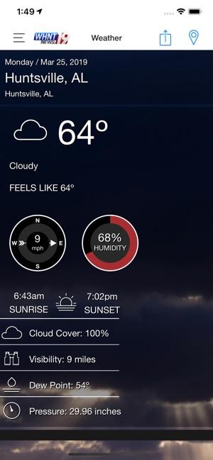 Livealert 19 Huntsville Wx On The App Store