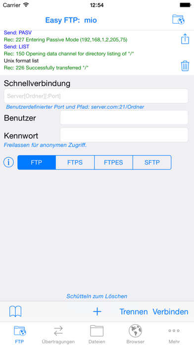 Screenshot for Easy FTP & SFTP Pro in Germany App Store