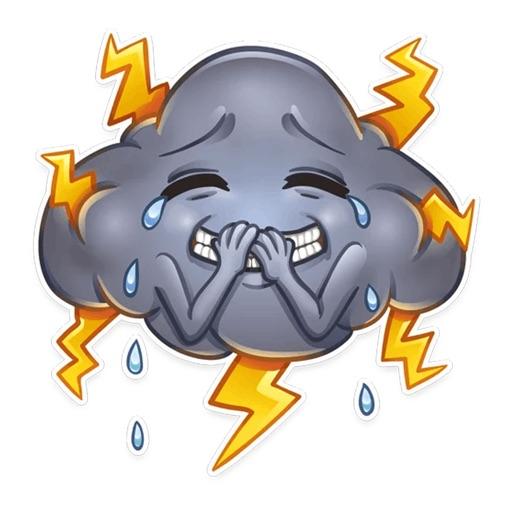 Weather Emoji Funny Stickers