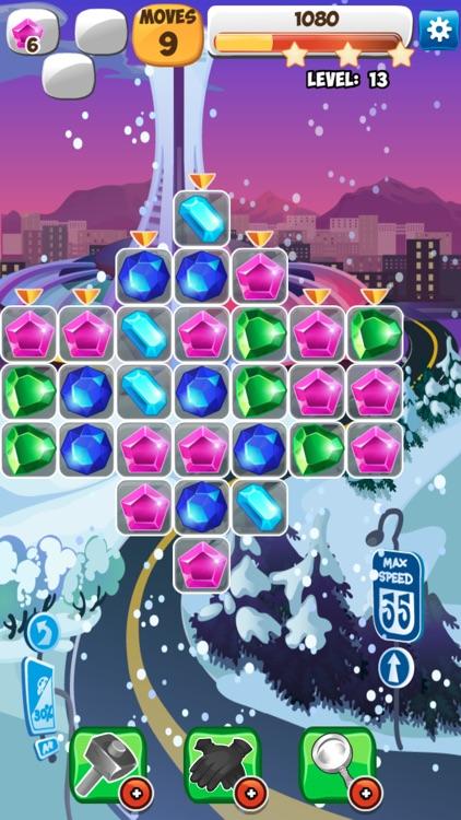 Jewels Detective Shiny Мatch 3 screenshot-4