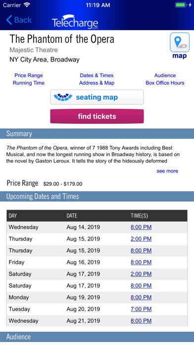 Telecharge Broadway Tickets screenshot two