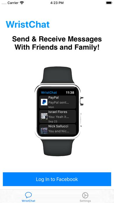 WristChat for Facebook screenshot 1