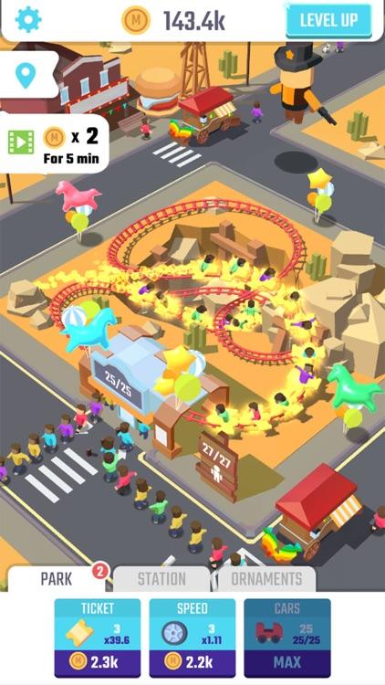 Idle Roller Coaster screenshot-3