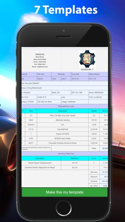 ARI(Auto Repair Invoice) screenshot-5