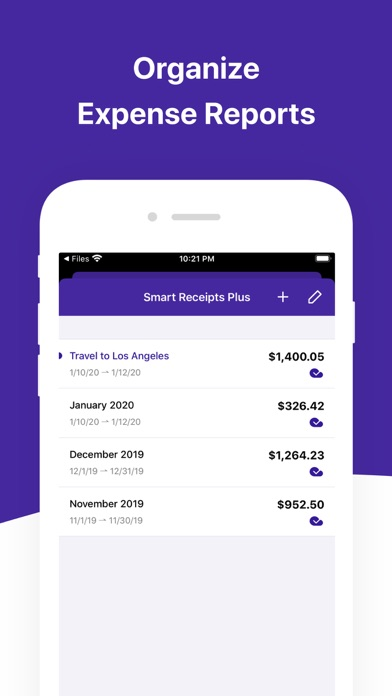 Screenshot #2 pour Smart Receipts