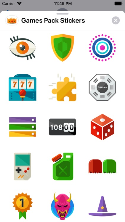 Games Pack Stickers