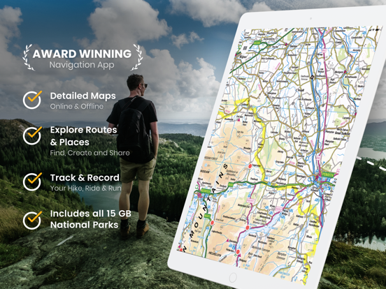 OutDoors Great Britain - GPS with National Parks OS Maps 1:50k screenshot